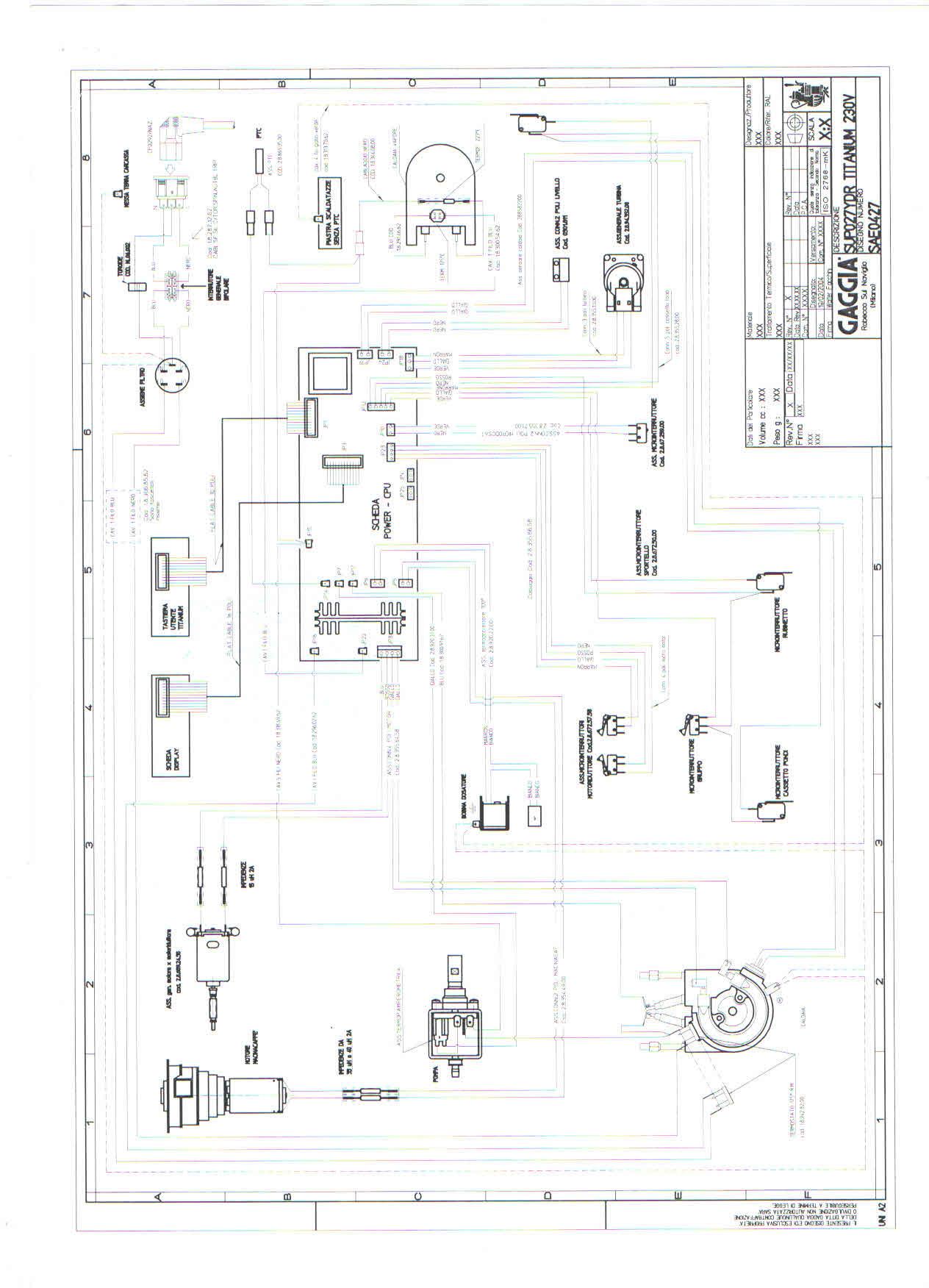Электрическая схема кофемашины бош tca 5201