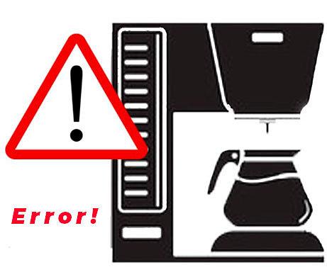 Коды ошибок при неисправкости кофемашины GIGA